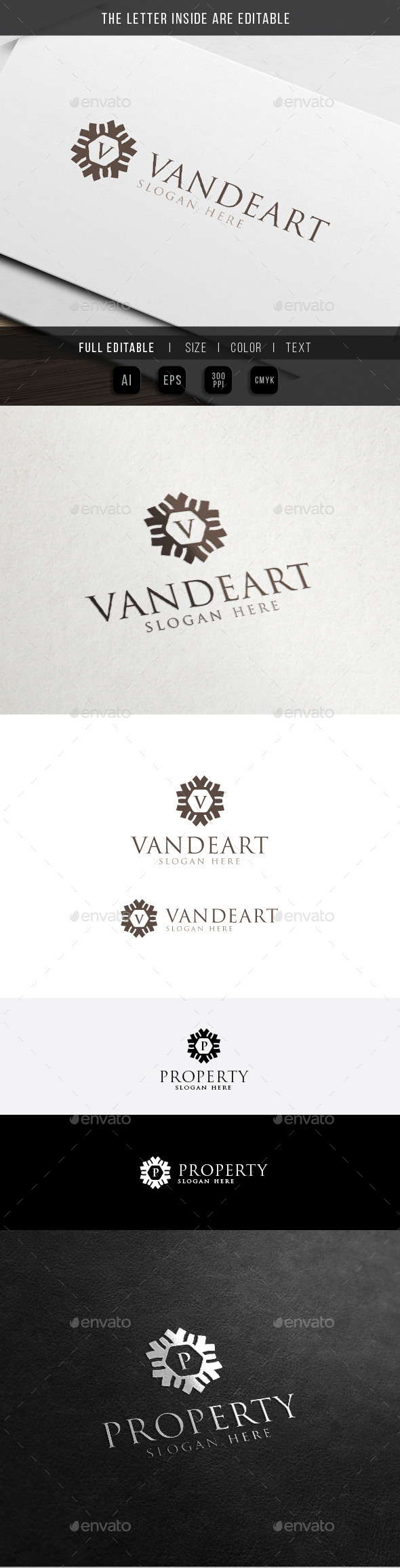 GraphicRiver Decorative Art Letter Brand Abstract Logo 11441546