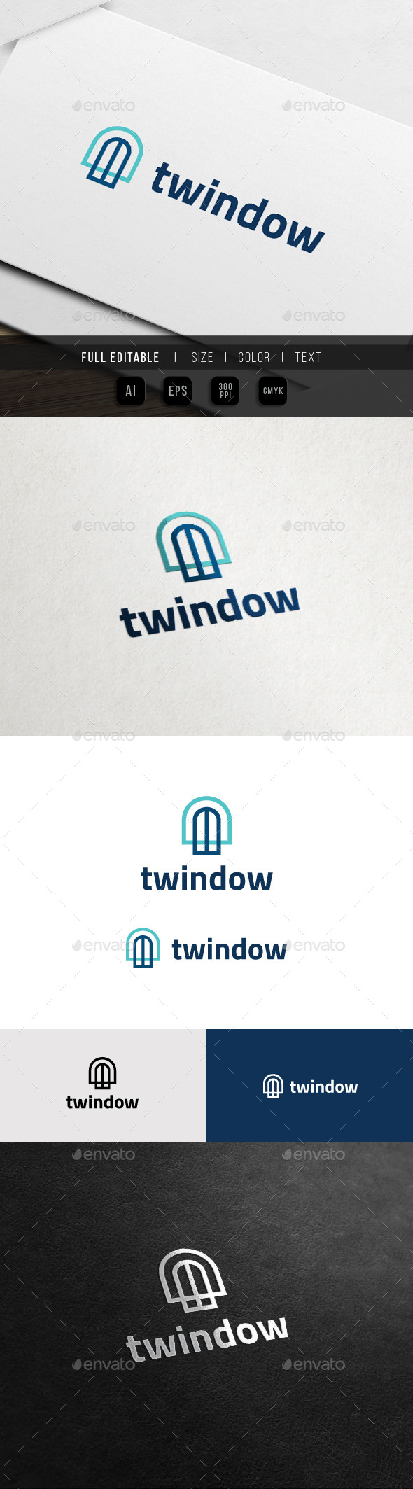 GraphicRiver Twin Window House Service Logo 11441631