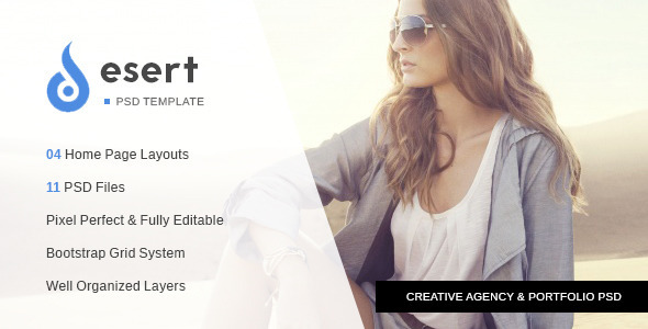 ThemeForest Desert Agency & Portfolio PSD Template 10522556
