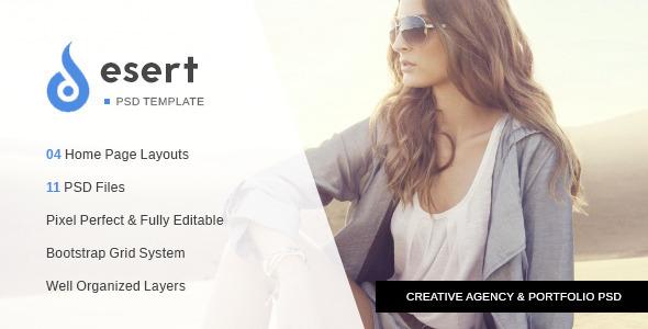 ThemeForest Desert Agency & Portfolio PSD Template 10522556