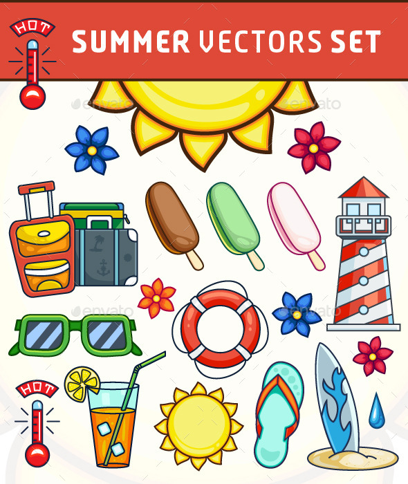 GraphicRiver Summer Vector Illustrations Set 11441854