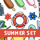 Summer Vector Illustrations Set - GraphicRiver Item for Sale