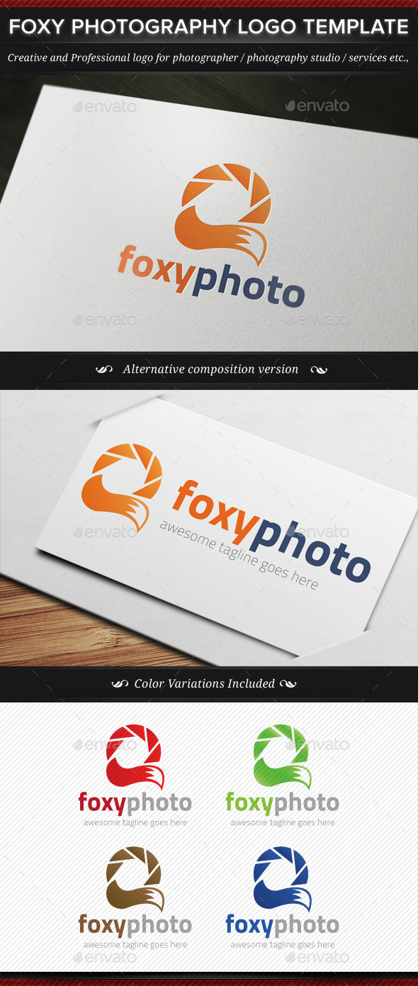 GraphicRiver Foxy Photo Animal Photography Logo Template 11441910