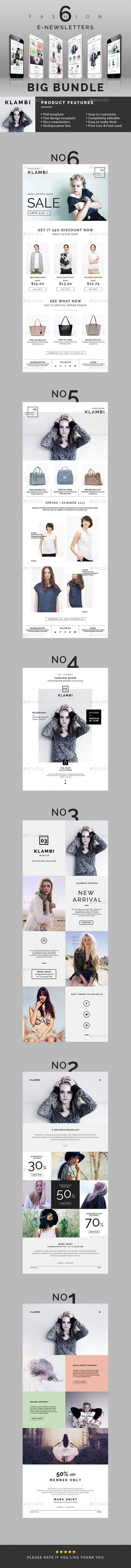 GraphicRiver Fashion E-Newsletter Bundle 11441946