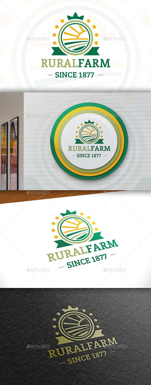 GraphicRiver Landscape Crest Logo 11441958
