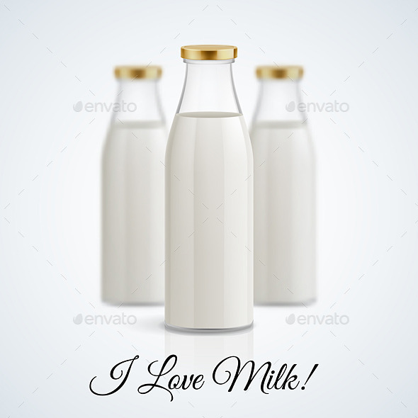 GraphicRiver Milk Bottle 11442023