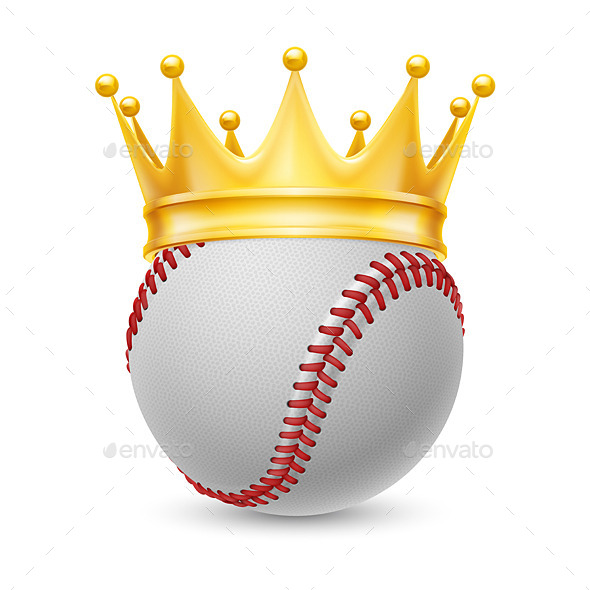 GraphicRiver Gold Crown on Baseball 11442218