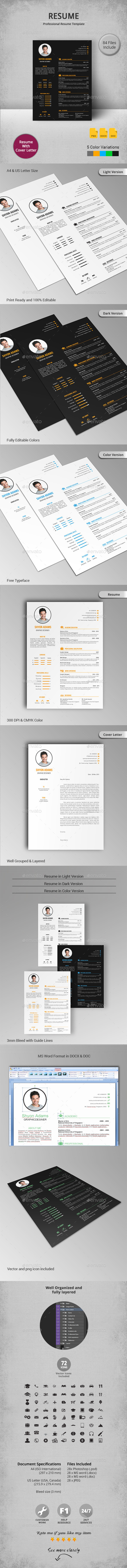 GraphicRiver Resume 11442224
