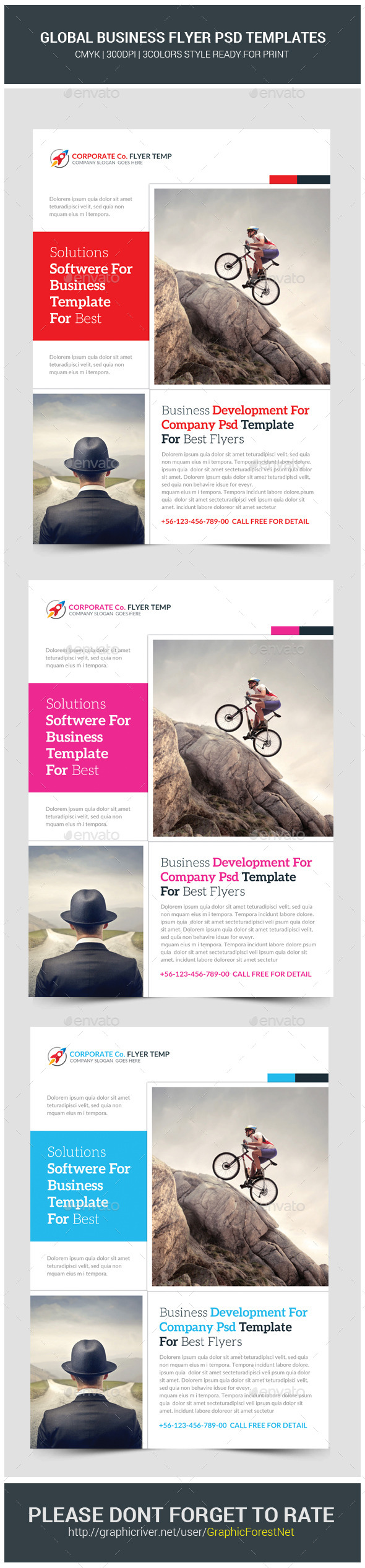 GraphicRiver Global Business Flyer Template 11442244