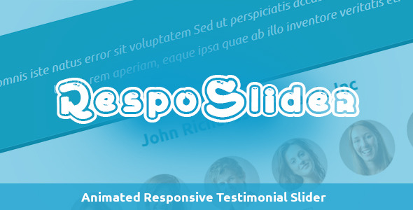 RespoSlider - Responsive Testimonial Slider - CodeCanyon Item for Sale