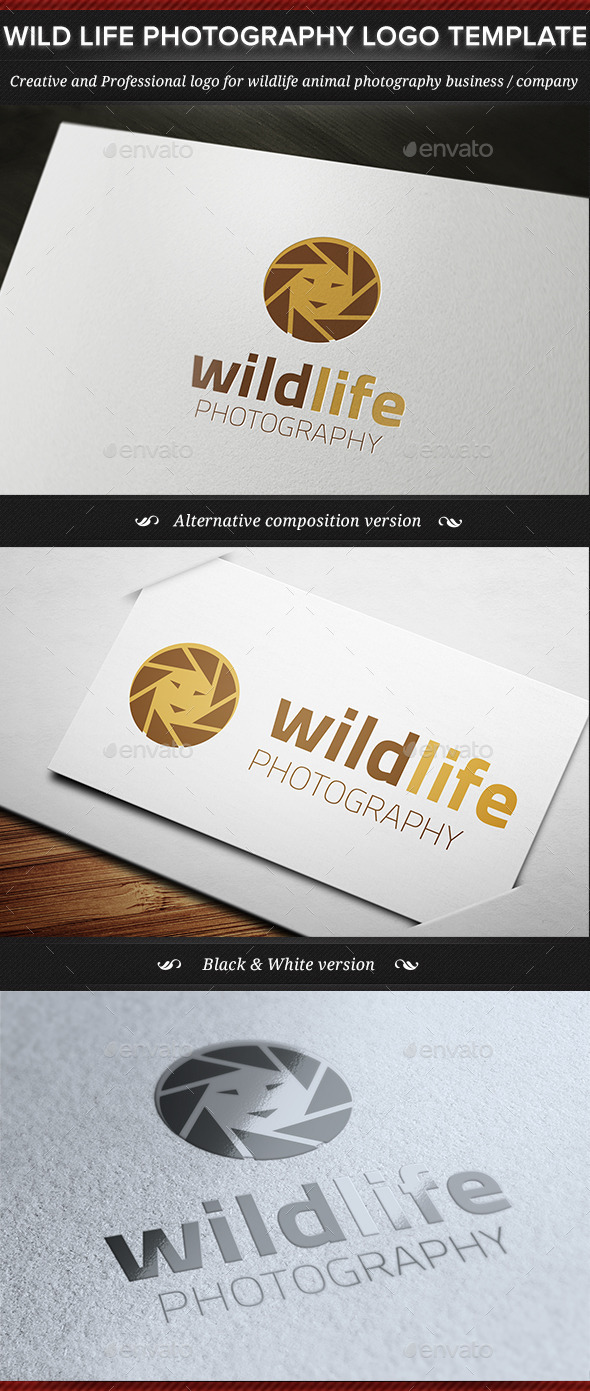 GraphicRiver Wild Life Photography Logo Template 11442580