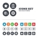 Star And Globe Signs. Checklist, Gear. - GraphicRiver Item for Sale