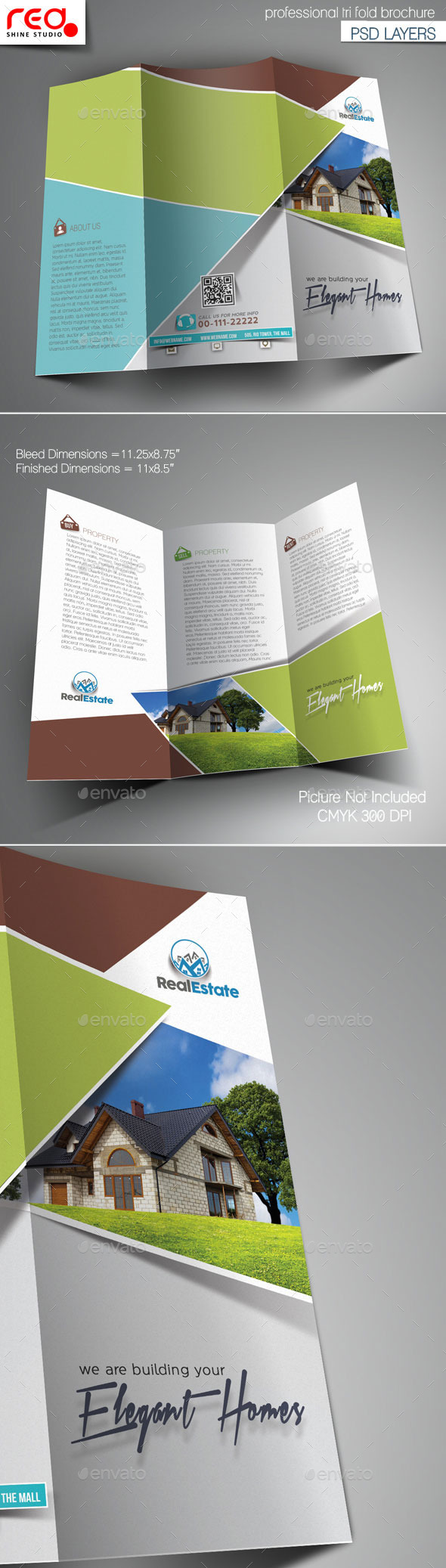 GraphicRiver Real Estate Multipurpose Trifold Brochure Template 11442655