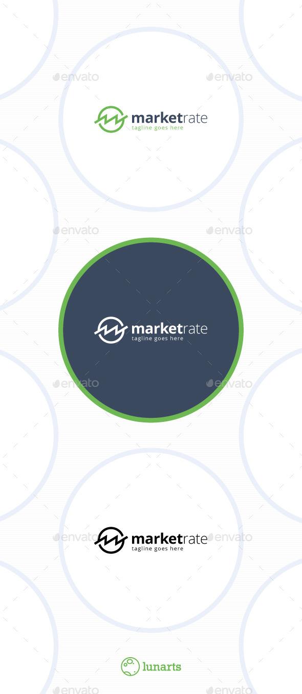 GraphicRiver Market Rate Logo Letter M 11442657