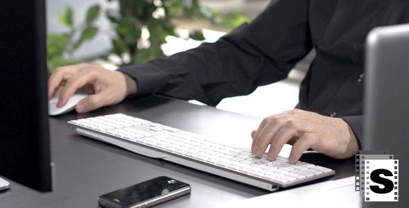 Working In Office Using Keyboard
