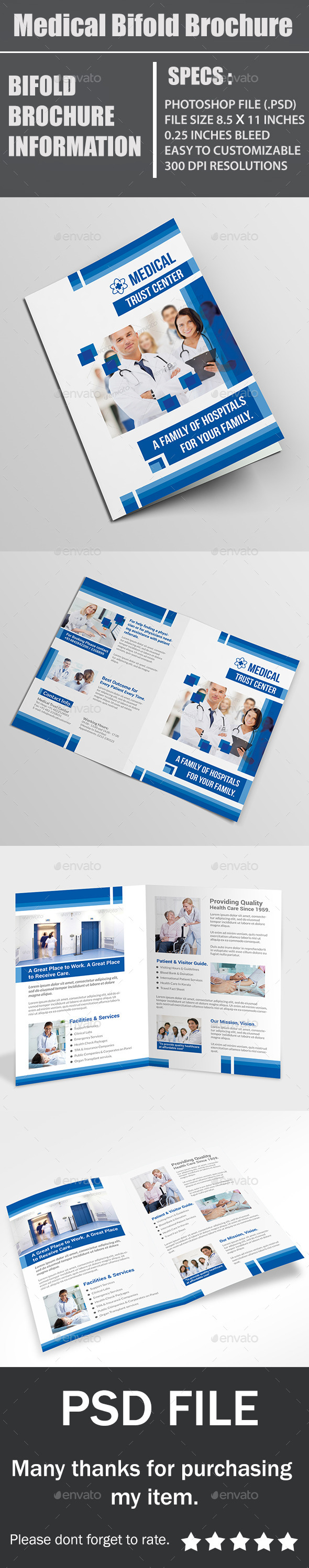 GraphicRiver Medical Bifold Brochure 11442972