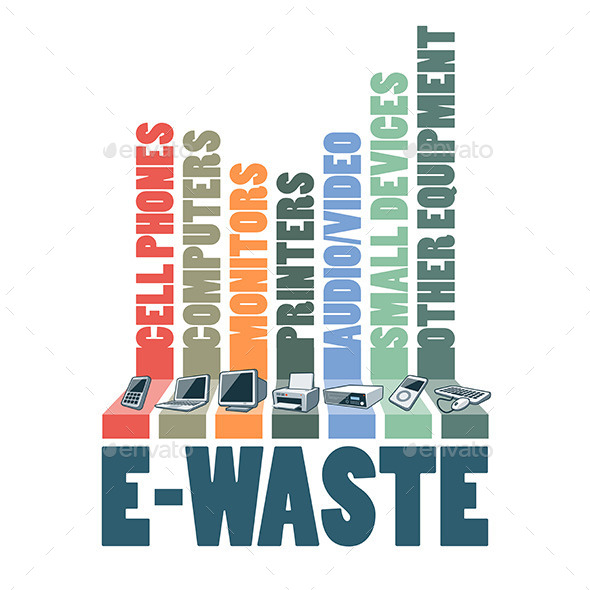 GraphicRiver E-Waste Types Infographic Concept 11443142