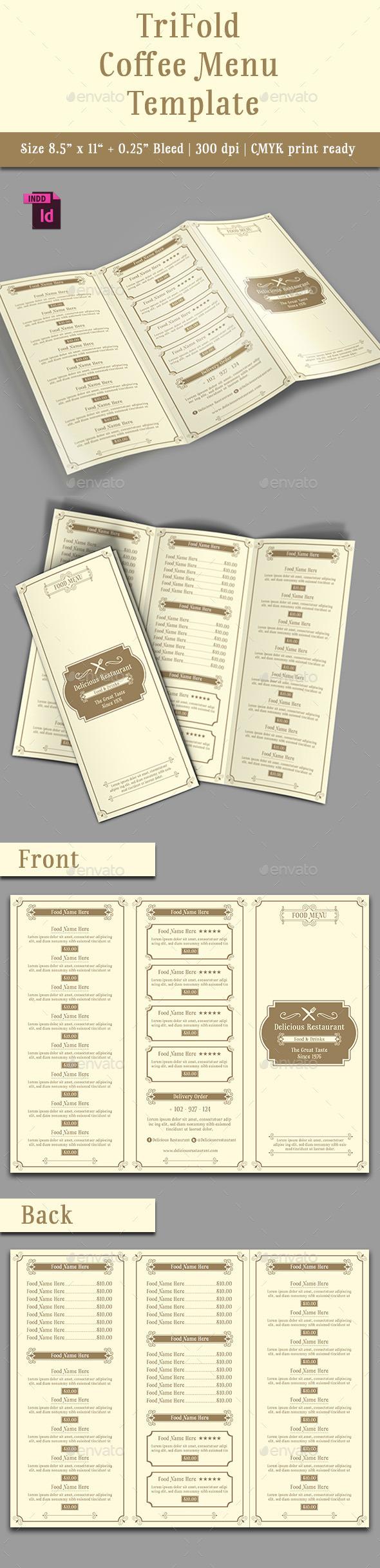 GraphicRiver TriFold Restaurant Menu Template Vol 8 11443173