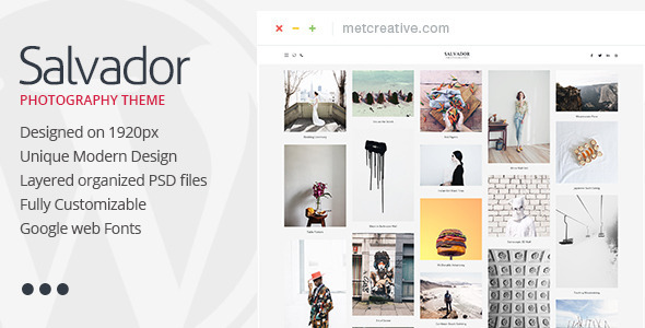 ThemeForest Salvador Clean Photography Theme 11443266