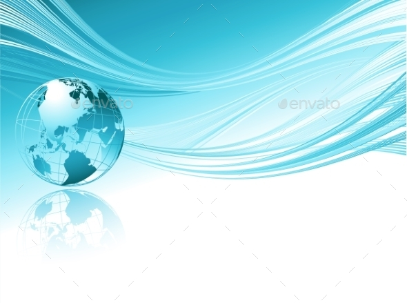 GraphicRiver Business Elegant Abstract Background With Globe 11443395