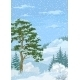 Winter Christmas Landscape With Trees And Snow - GraphicRiver Item for Sale