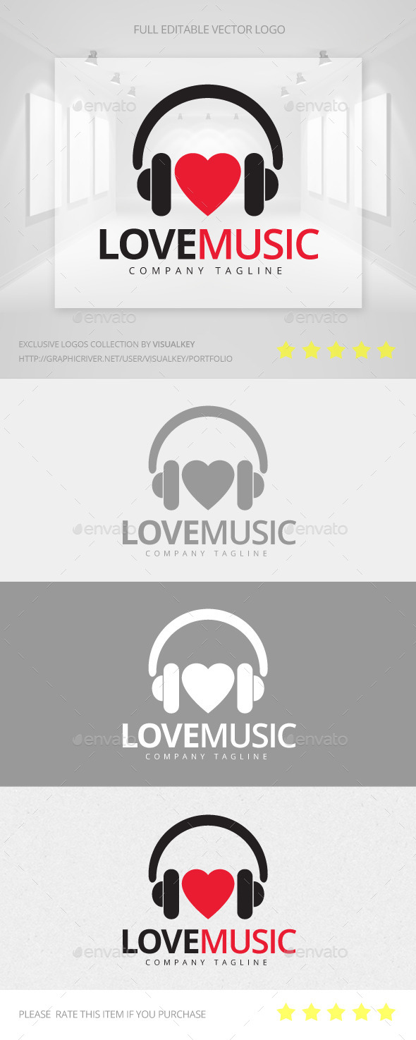 GraphicRiver Love Music Logo 11443530