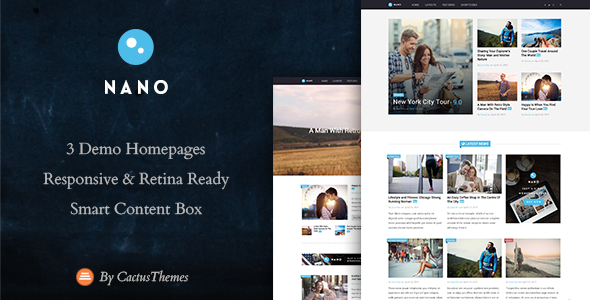 ThemeForest Nano Simple Magazine WordPress Theme 11443545
