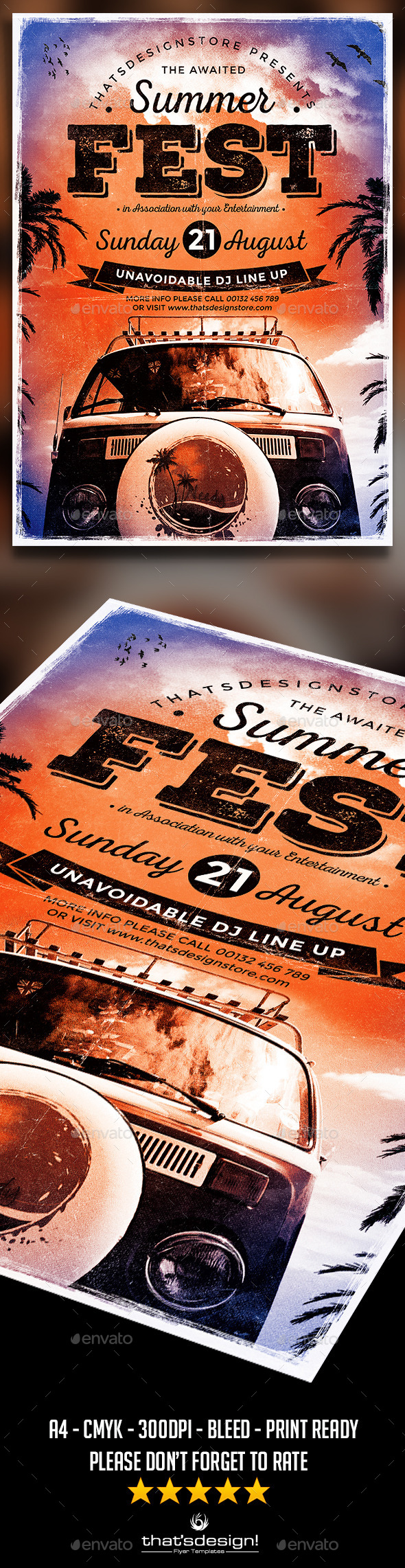 GraphicRiver Summer Fest Flyer Poster Template V2 11443563