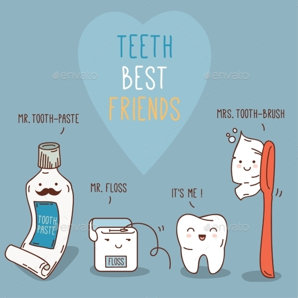 GraphicRiver Teeth Best Friends 11443584