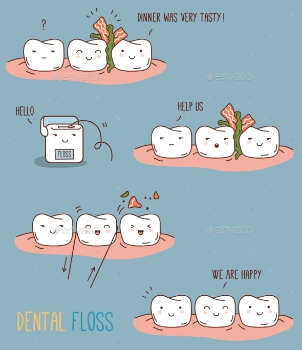 GraphicRiver Comics About Dental Floss 11443614