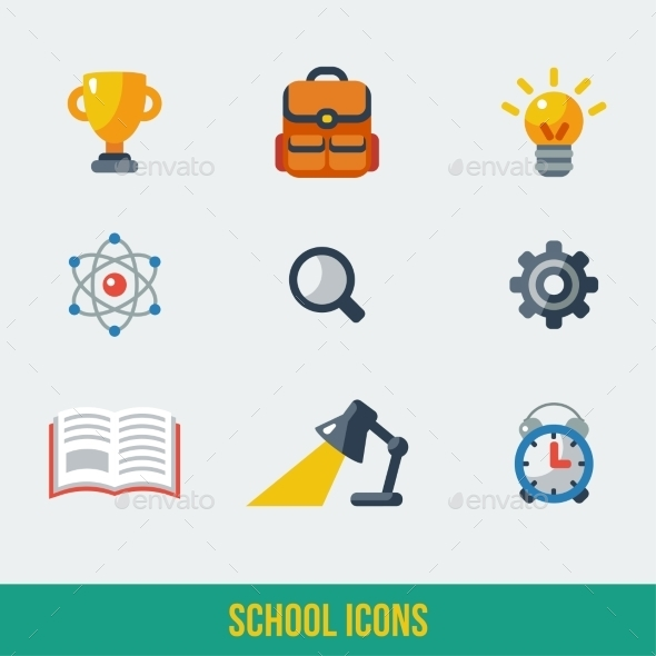 GraphicRiver School and Education Icons 11443637