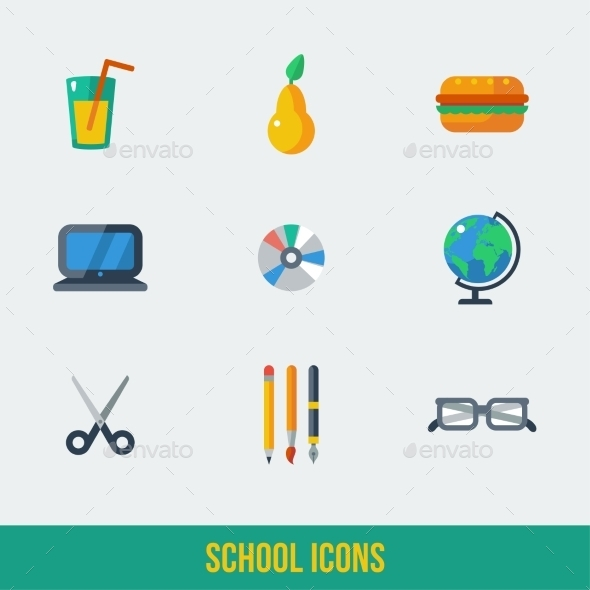 GraphicRiver School and Education Icons 11443640