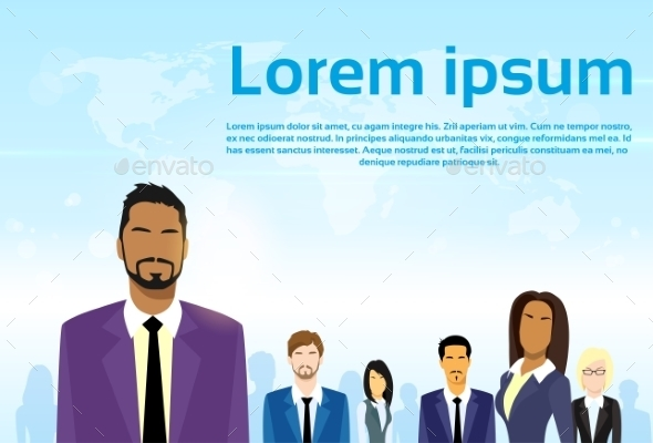 GraphicRiver Business People Group Leader Diverse Team Vector 11443899