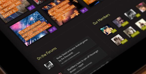 Xphoria - BuddyPress Theme