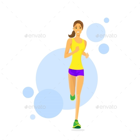 GraphicRiver Sport Woman Run Fitness Girl Runner Jogging 11443951