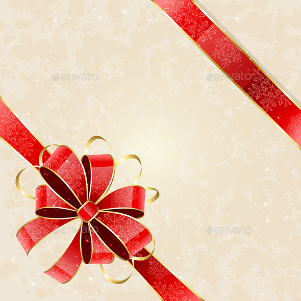 GraphicRiver Christmas Background with Bow 11443988