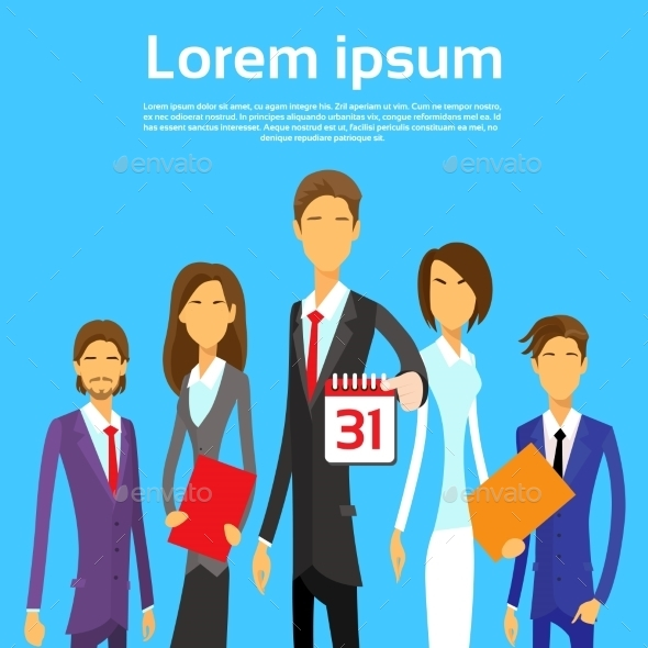 GraphicRiver Business People Group Calendar Date Last Day Month 11443990