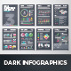 Dark Infographic Brochure Vector Elements Kit 3 - GraphicRiver Item for Sale