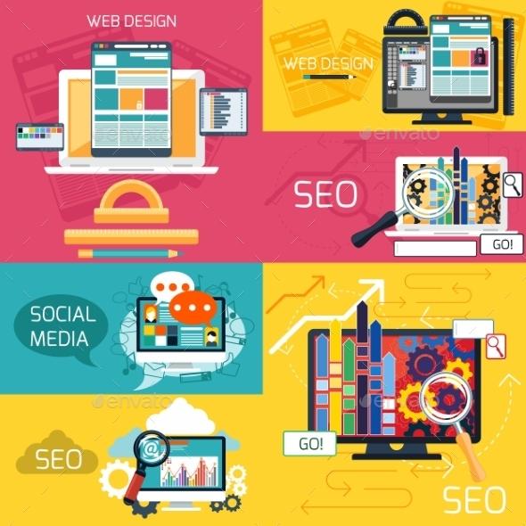 GraphicRiver SEO And Web Design Concepts 11444128