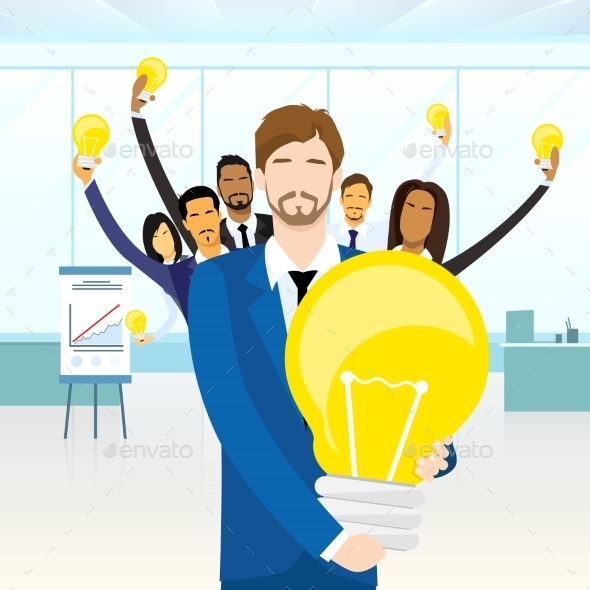 GraphicRiver Business People Team Group Idea Concept Bulb 11444400