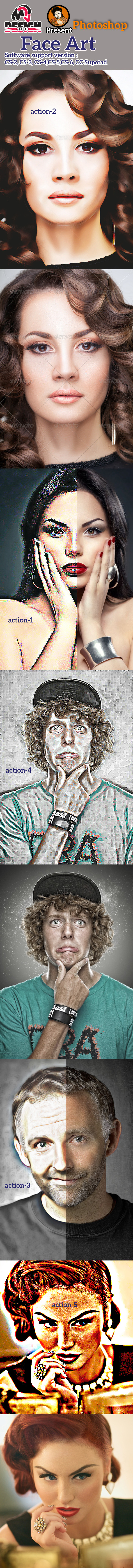 GraphicRiver Face Art Action 11444402