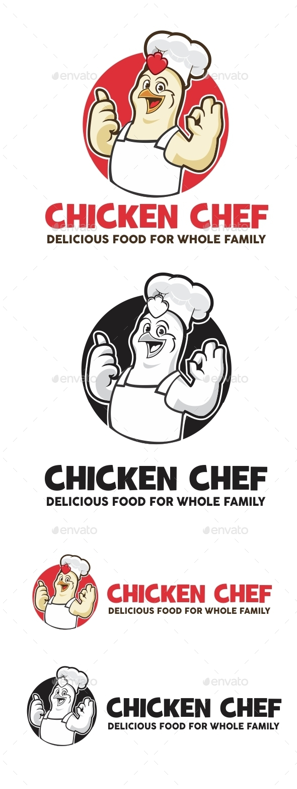 GraphicRiver Chicken Chef Logo 11434496