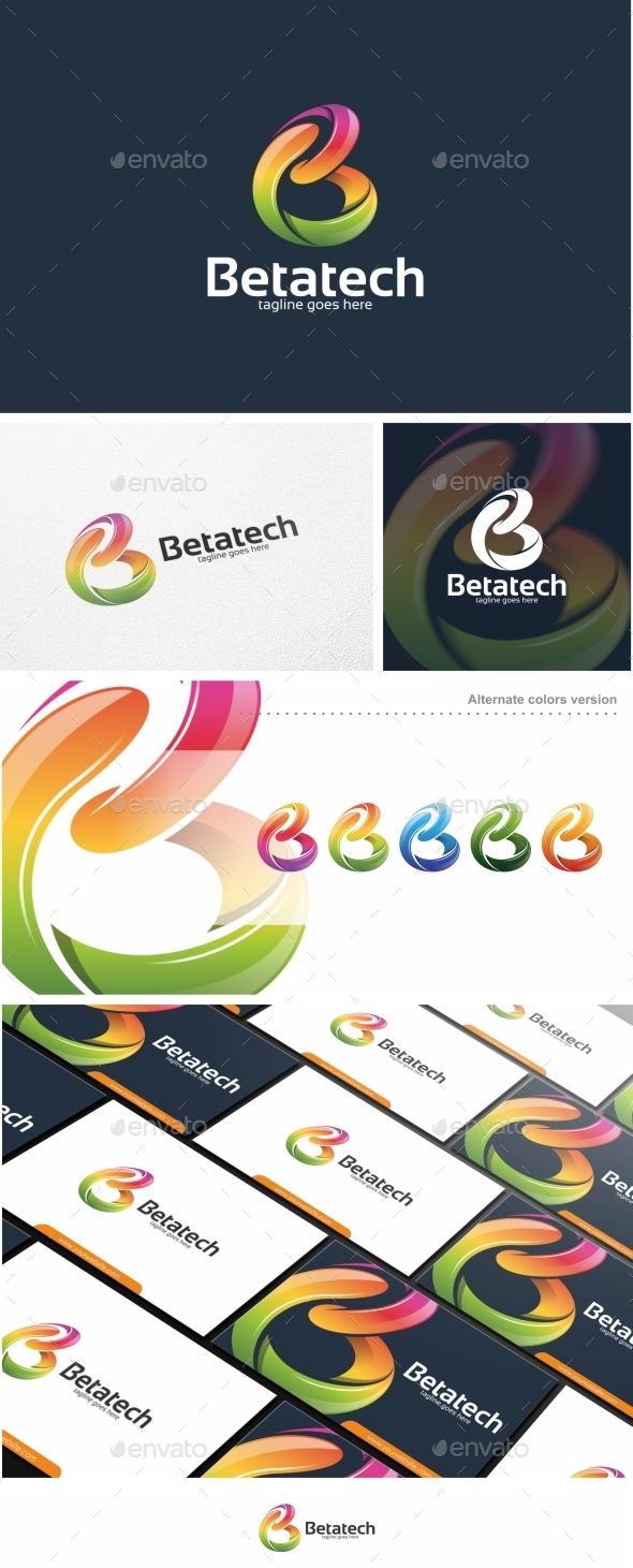 GraphicRiver Abstract Colorful B Letter Vol 02 Logo Template 11444438