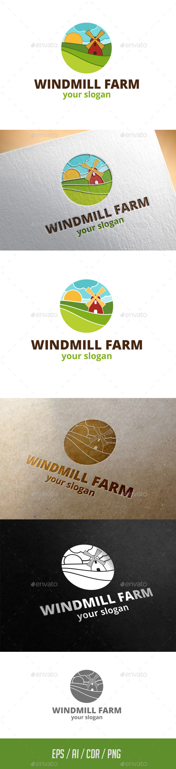 GraphicRiver Windmill Farm Logo Template 11444449