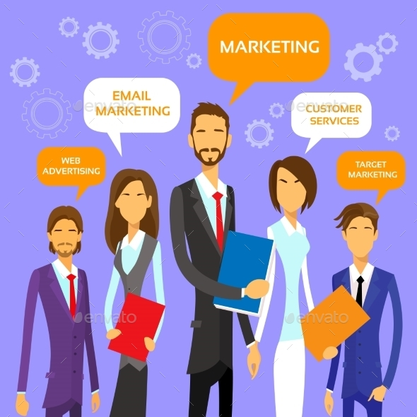 GraphicRiver Marketing Team Concept Business People Group 11444450
