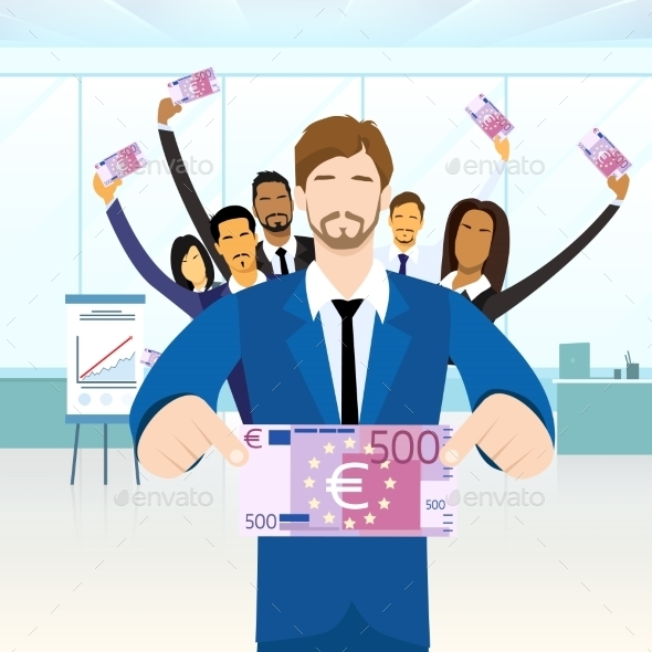 GraphicRiver Business People Group Hold Five Hundred Euro 11444533