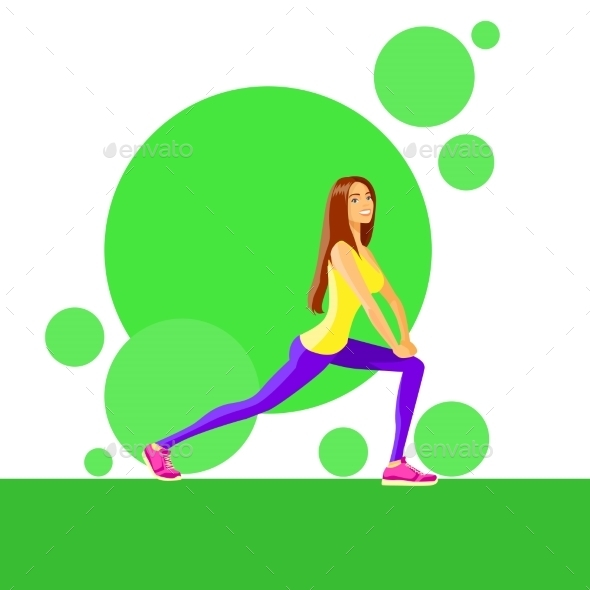 GraphicRiver Sport Woman Fitness Girl Exercise Workout Trainer 11444550