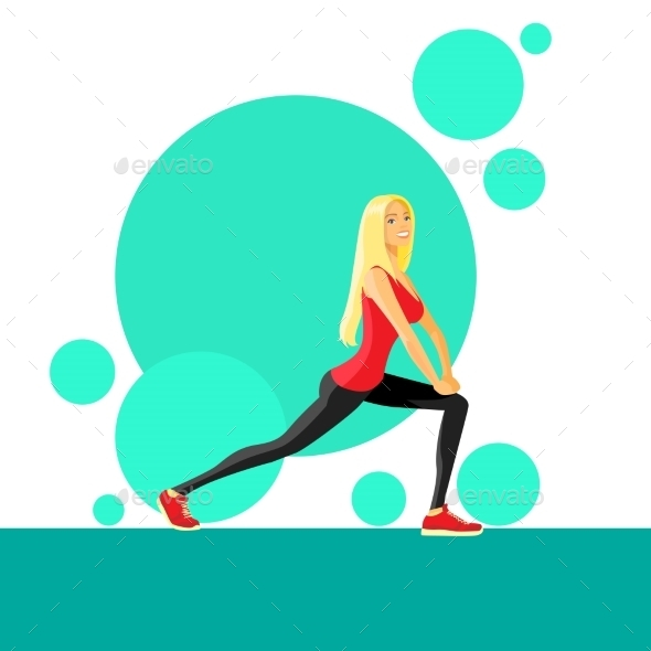 GraphicRiver Sport Woman Fitness Girl Exercise Workout Trainer 11444551
