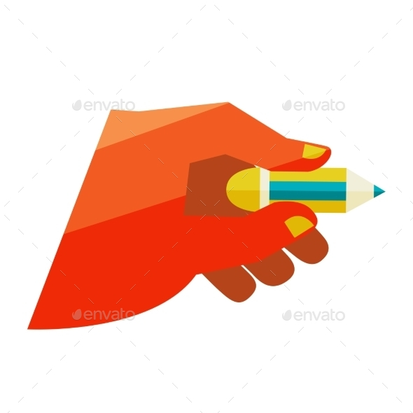 GraphicRiver Hand Holding a Pencil 11444576