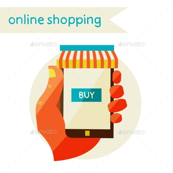 GraphicRiver Online Shopping Sale Flat Design Modern 11444581
